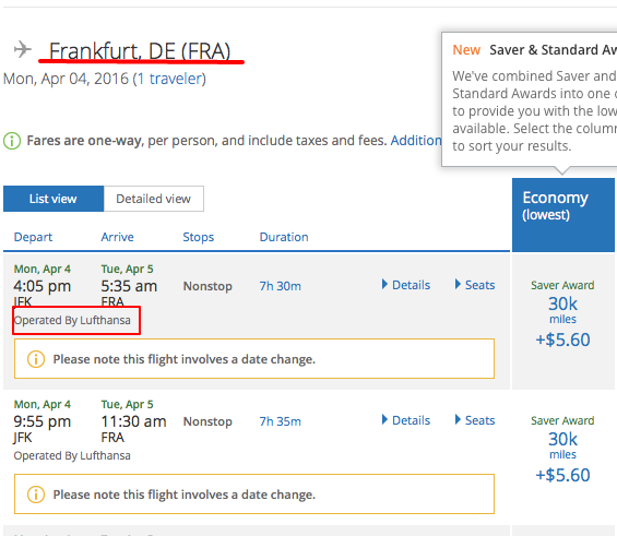 Redeeming your United miles on Star Alliance partner, Lufthansa
