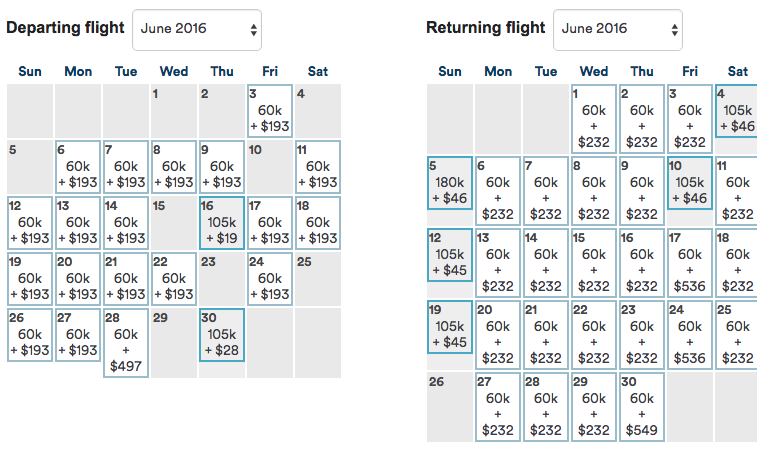 No business class seats for two passengers in either month of June or July.