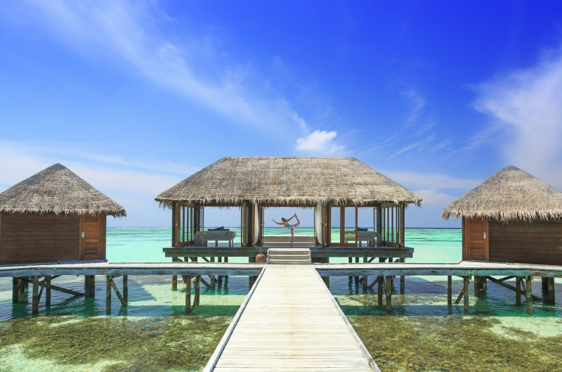 Use your two Citi Hilton Reserve nights to stay the weekend at the Conrad Maldives Overwater Bungalow - Image Courtesy of Hilton