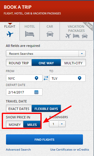 Delta makes redeeming miles nice and easy!