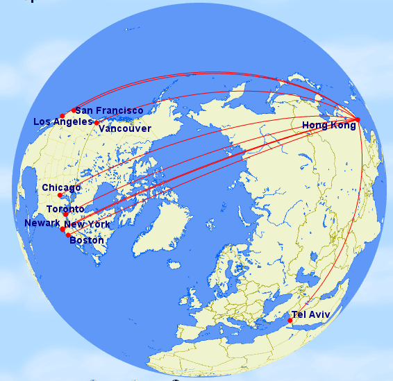 Fly from Boston, New York City, Chicago, Toronto, Los Angeles, San Francisco, or Vancouver